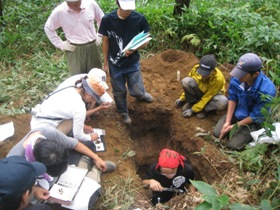 標茶区での土壌の調査