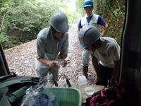 川の水のpH・EC調査
