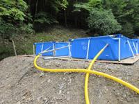 排水ホースの取付