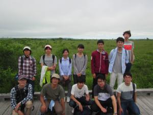 釧路湿原の高層湿原にて