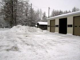 車庫前除雪後