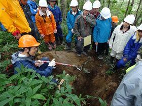 土壌断面についての説明