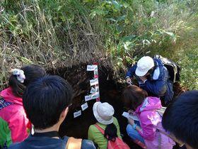 根釧農試での土壌観察