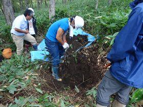 標茶区での土壌観察