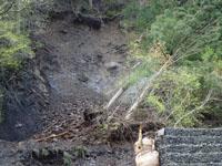 崩土除去前(八幡谷線から)