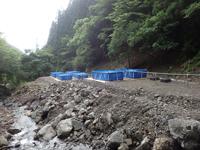 設置した大型プール