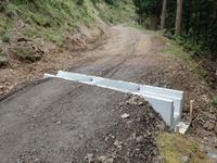 横断排水溝(ロングU)の設置完了